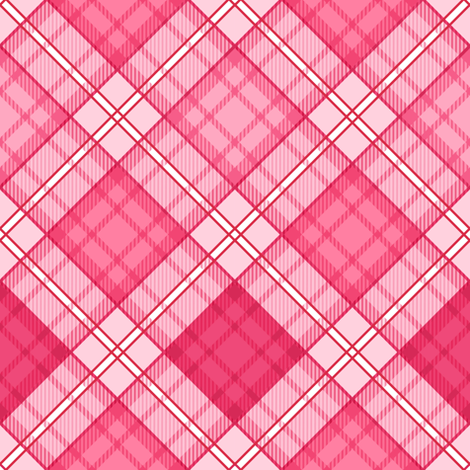 Sugar Heart Plaid fabric by sparklepipsi on Spoonflower - custom fabric