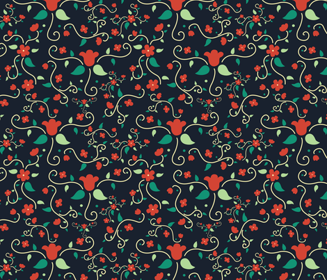 Paper Flowers fabric by svaeth on Spoonflower - custom fabric