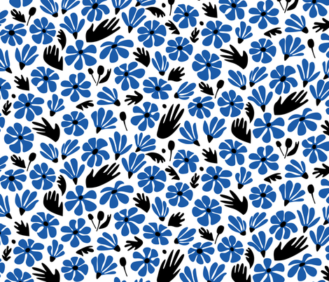 Hand-picked bouquet fabric by chris_jorge on Spoonflower - custom fabric