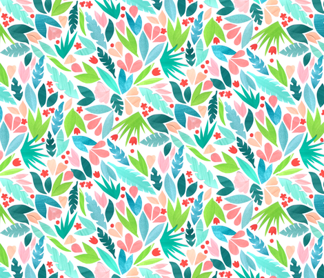 Paper Cut Floral fabric by emilyclaire on Spoonflower - custom fabric