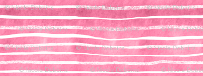 White on Raspberry Pink striped watercolor