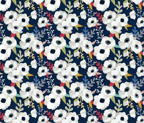 I Live Life in Full Bloom fabric by madibee on Spoonflower - custom fabric