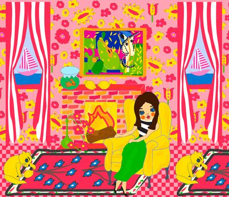 Chat Limon fabric by orangefancy on Spoonflower - custom fabric