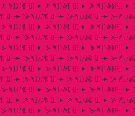 Wild and Free Arrows - fuchsia fabric by sugarpinedesign on Spoonflower - custom fabric