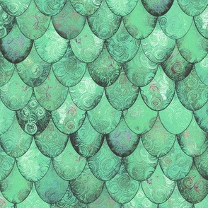 Pale Green Mermaid or Dragon Scales by Su_G