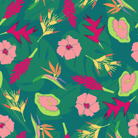 Tropi-Cut Florals fabric by sarah_coombs on Spoonflower - custom fabric