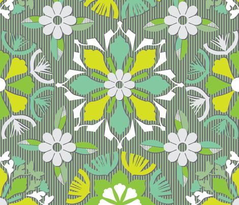 Paper Garden fabric by habiba_artsy_studio on Spoonflower - custom fabric