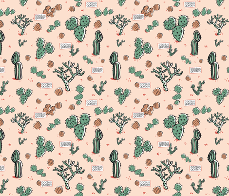 cactus garden fabric by colorofmagic on Spoonflower - custom fabric