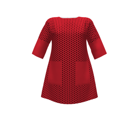 Don't miss the point(polka dots)on red