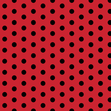 Don't miss the point(polka dots)on red  fabric by franbail on Spoonflower - custom fabric