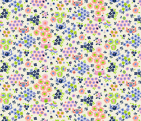 Peeping Toms (at dawn, smallscale) fabric by cerigwen on Spoonflower - custom fabric
