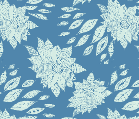 PaperCut_Flowers fabric by maredesigns on Spoonflower - custom fabric