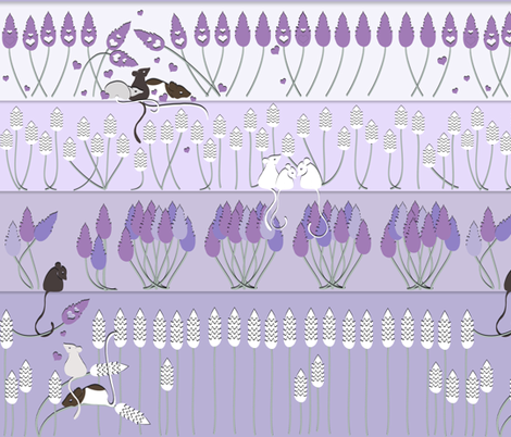 Love in Lavender fabric by ladyrattus on Spoonflower - custom fabric