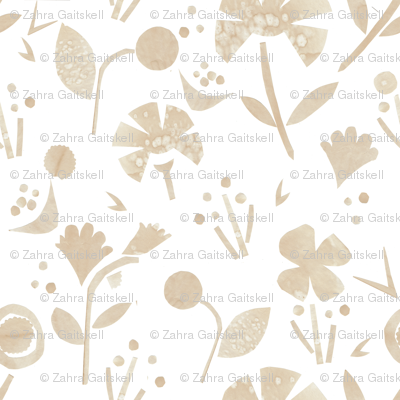 Coffee Papercut Florals