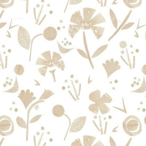 Coffee Papercut Florals