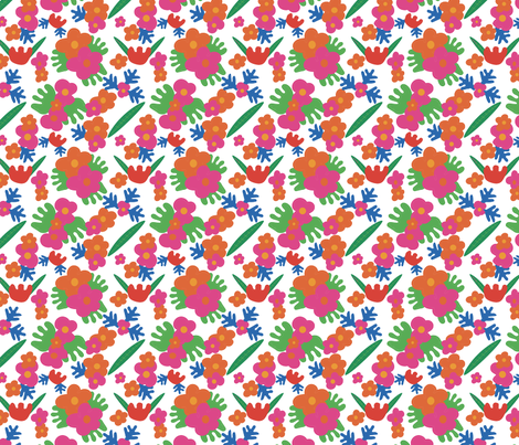 Floral cut outs fabric by elsie_pie on Spoonflower - custom fabric