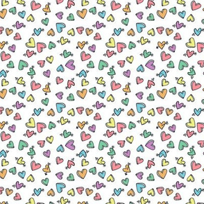 school doodle hearts