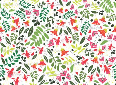Matisse Garden green and red