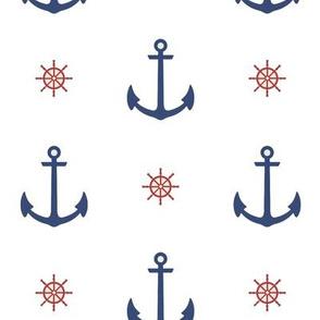 Summer Navy - White
