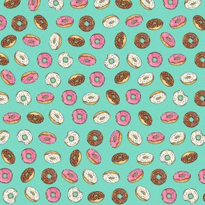 ALL the donuts! on Aqua - Small