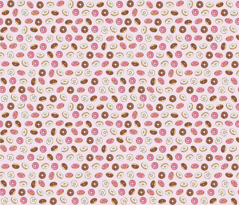 ALL the donuts! on Pink - Small fabric by joanandrose on Spoonflower - custom fabric