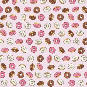 ALL the donuts! on Pink - Small