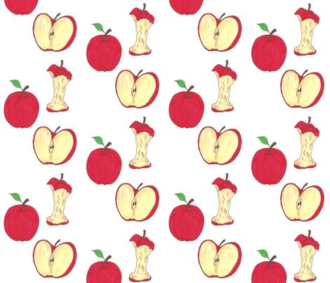 apples fabric by maplemoondesigns on Spoonflower - custom fabric