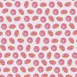 Strawberry Donuts on Pink - Small