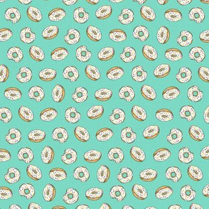 Sprinkle Donuts on Aqua - Small