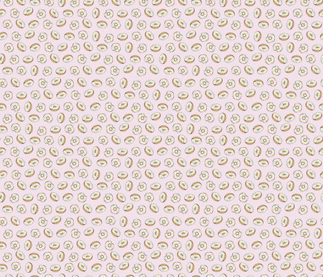 Sprinkle Donuts on Pink - Small fabric by joanandrose on Spoonflower - custom fabric