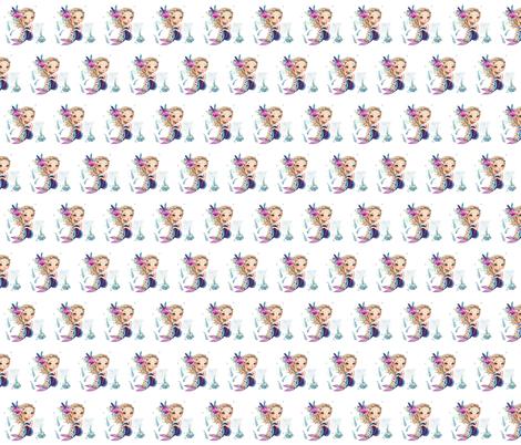 "2"" Lilac Mermaid / Mix & Match fabric by shopcabin on Spoonflower - custom fabric"