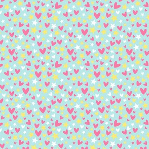 Tropical novelty hearts and stars B