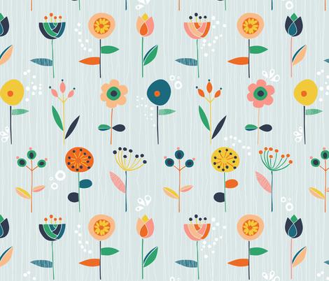 Scandi flowers fabric by gabriellemutel on Spoonflower - custom fabric