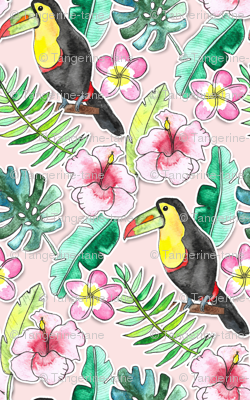 Tropical Toucan Paper-Cut Floral