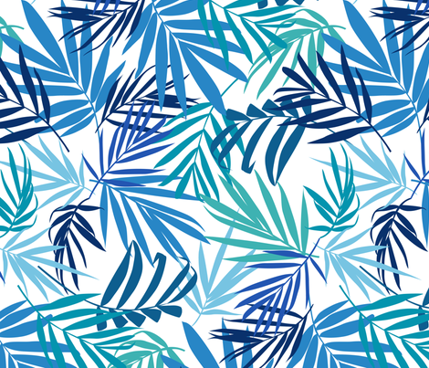 shadow palm 3  fabric by laura_may_designs on Spoonflower - custom fabric