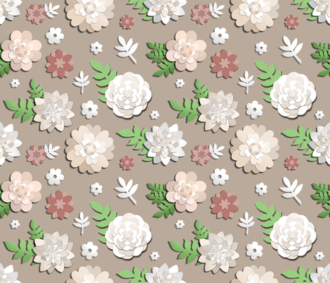 Paper Garden fabric by irishvikingdesigns on Spoonflower - custom fabric