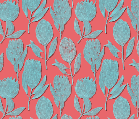 Protea fabric by lavish_season on Spoonflower - custom fabric