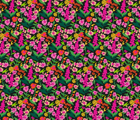 S_Cut_paper_Flowers fabric by choffman on Spoonflower - custom fabric