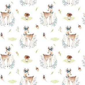 Watercolor baby deer 2