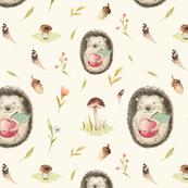 Watercolor  hedgehog 2