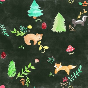 Forest Animals on Green