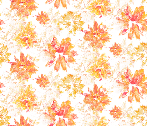 Flower-stamp fabric by artishark on Spoonflower - custom fabric