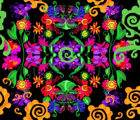 papercut_fLowers fabric by silnamilisa on Spoonflower - custom fabric