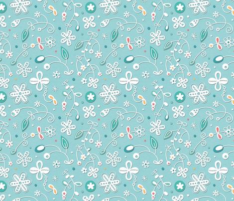 Paper-cut-flowers fabric by la_fabriken on Spoonflower - custom fabric