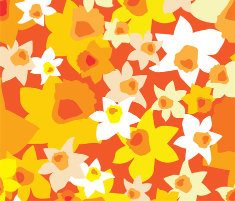 kcorydaffodils fabric by katherinecory on Spoonflower - custom fabric