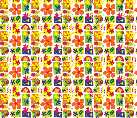 Matisse_Inspired_Blooms fabric by periwinkleartstudio on Spoonflower - custom fabric