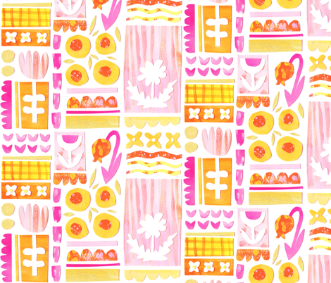 Paper-Cut Petals fabric by tonia_dee on Spoonflower - custom fabric