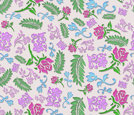 Papercut Floral fabric by whimsicalvigilante on Spoonflower - custom fabric