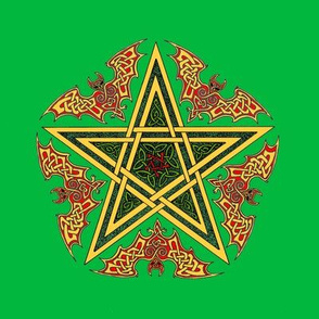 Celtic Bat Star on Green
