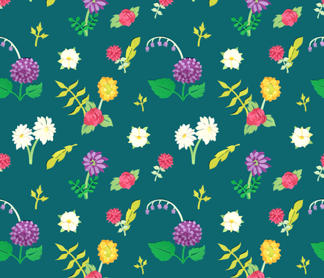 Paper Cut Floral fabric by crowlands on Spoonflower - custom fabric